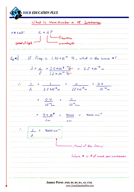 IB Chemistry SL & HL: 11.3 - IR Spectroscopy